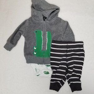 Carter's | Baby Boy Alligator 3 Piece Outfit